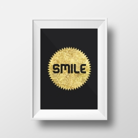 Smile Faux Gold Foil