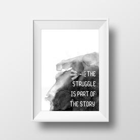 The Struggle Watercolour_White_Mockup