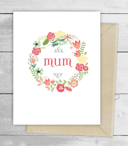 mum wreath card