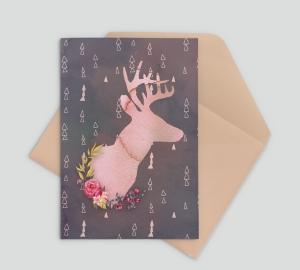Christmas Watercolour Deer