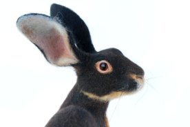Needle Felted, Hare, Belgian Hare, Large Soft Sculpture