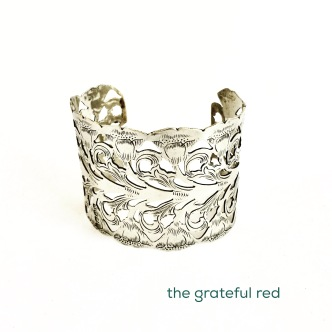 SOLD - Sterling silver napkin ring recreated into this gorgeous bracelet